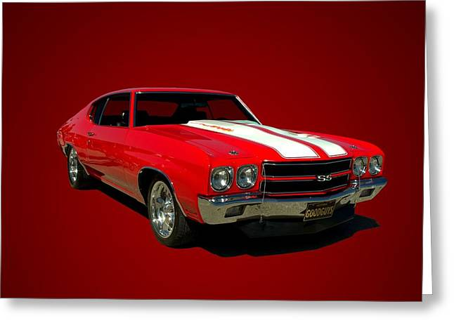 Teemack Greeting Cards - 1970 Chevelle Super Sport Greeting Card by Tim McCullough