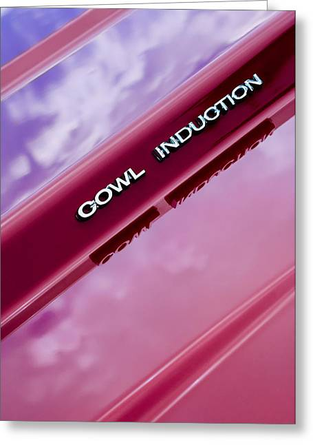 Cowling Greeting Cards - 1970 Chevrolet Camaro Pro Touring - Cowl Induction Emblem Greeting Card by Jill Reger