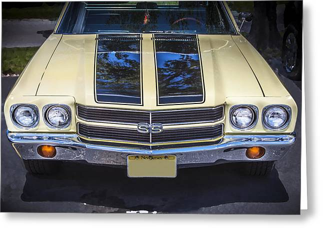 V8 Chevelle Greeting Cards - 1970 Chevrolet Chevelle SS Greeting Card by Rich Franco