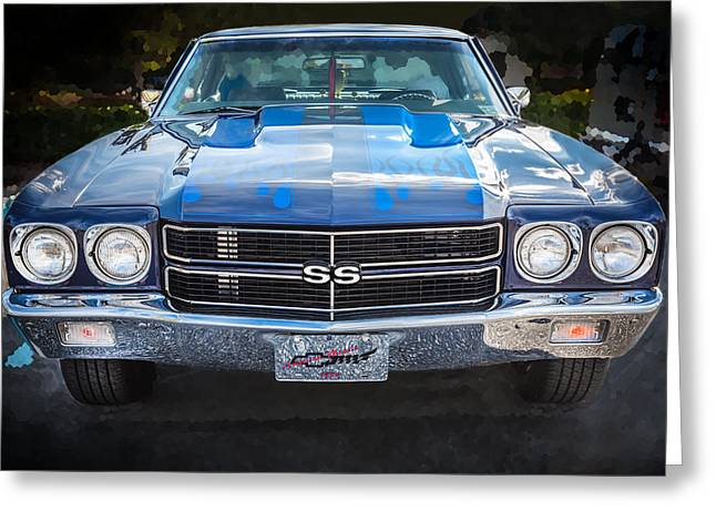 V8 Chevelle Greeting Cards - 1970 Chevy Chevelle 454 SS   Greeting Card by Rich Franco