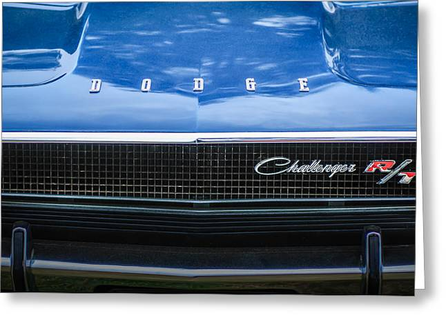 Challenger Greeting Cards - 1970 Dodge Challenger RT Convertible Grille Emblem -0545c Greeting Card by Jill Reger
