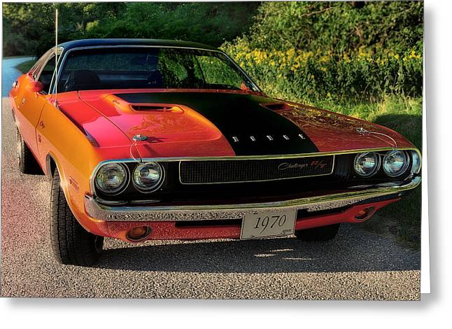 440 Greeting Cards - 1970 Dodge Challenger RT Greeting Card by Thomas Schoeller
