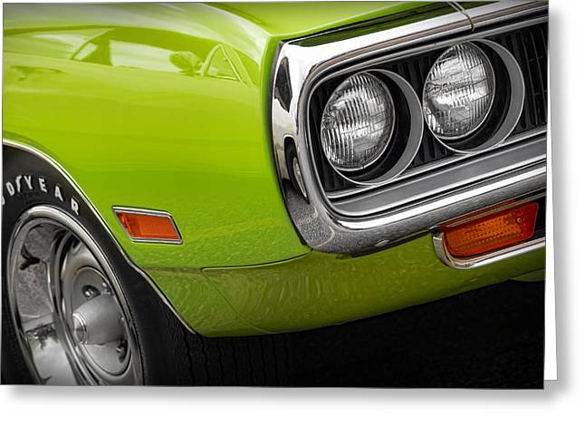 Dodge Coronet Super Bee Greeting Cards - 1970 Dodge Coronet R/T Greeting Card by Gordon Dean II