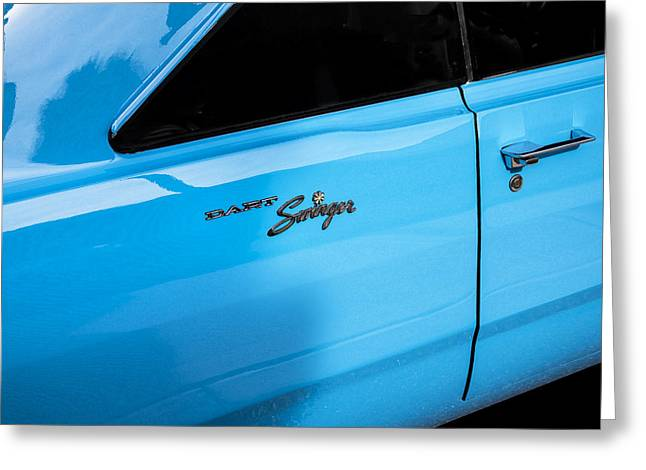 318 Greeting Cards - 1970 Dodge Dart Swinger 340 Greeting Card by Rich Franco