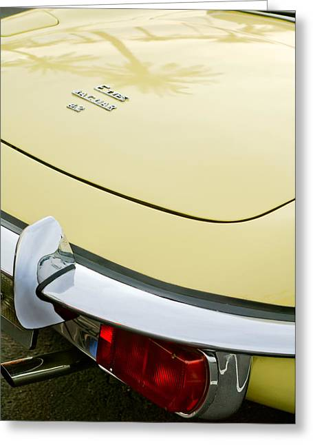 Jaguars Greeting Cards - 1970 Jaguar XK Type-E Taillight Greeting Card by Jill Reger
