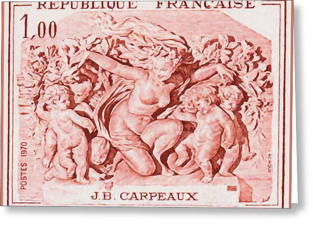 Nude Relief Sculpture Greeting Cards - 1970 J.b. Carpeaux Greeting Card by Lanjee Chee