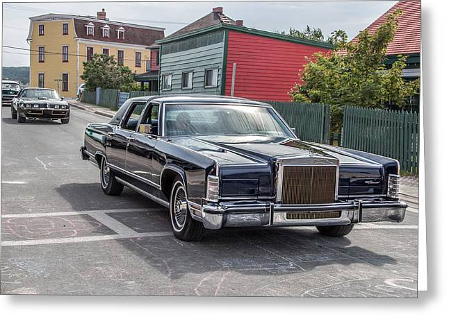 Subcompact Greeting Cards - 1970 Lincoln Continental  Greeting Card by Crystal Fudge