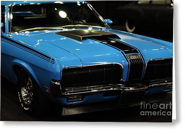 Mercury Hot Rod Greeting Cards - 1970 Mercury Cougar - 5D20355 Greeting Card by Wingsdomain Art and Photography