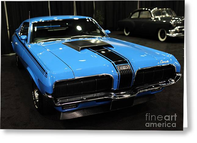 Mercury Hot Rod Greeting Cards - 1970 Mercury Cougar - 5D20363 Greeting Card by Wingsdomain Art and Photography