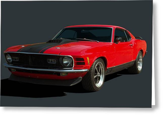Teemack Greeting Cards - 1970 Mustang Mach 1 Greeting Card by Tim McCullough