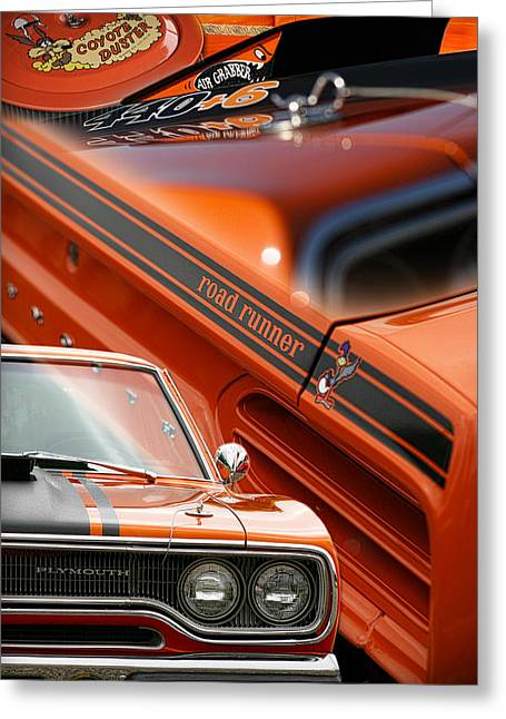 Mopar Collector Greeting Cards - 1970 Plymouth Road Runner  Greeting Card by Gordon Dean II