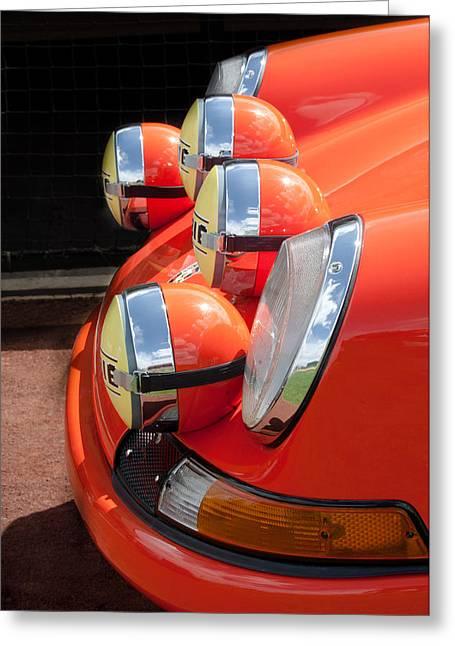 Headlight Greeting Cards - 1970 Porsche 911 T Headlights - 1 Greeting Card by Jill Reger