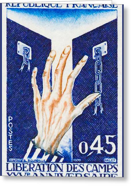 Release Prisoner Greeting Cards - 1970 Release Xxv Anniversary Camps Greeting Card by Lanjee Chee
