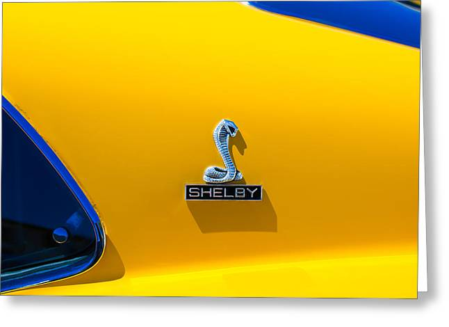 1970 Shelby Cobra Gt350 Fastback Emblem Greeting Card by Jill Reger