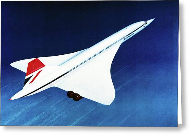 1970s Concorde In Flight Greeting Card by Us National Archives