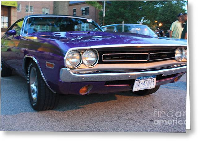 Challenger Model Greeting Cards - 1971 Challenger Front and Side View Greeting Card by John Telfer