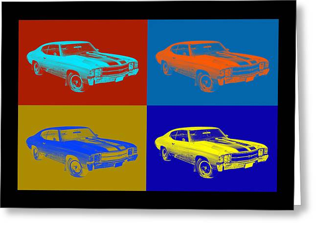 Chevelle Greeting Cards - 1971 chevrolet Chevelle SS pop Art Greeting Card by Keith Webber Jr
