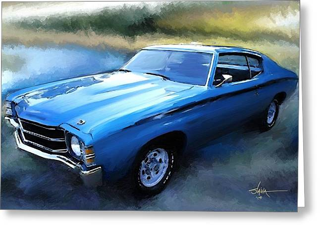 Wheels Greeting Cards - 1971 Chevy Chevelle Greeting Card by Robert Smith