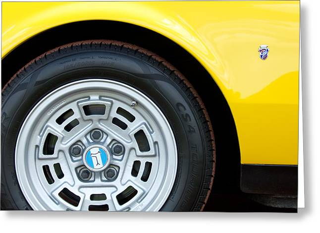Italian Marque Greeting Cards - 1971 DeTomaso Pantera Wheel  Greeting Card by Jill Reger