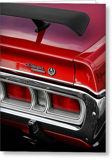 Dodge Super Bee Emblem Greeting Cards - 1971 Dodge Charger SE Greeting Card by Gordon Dean II