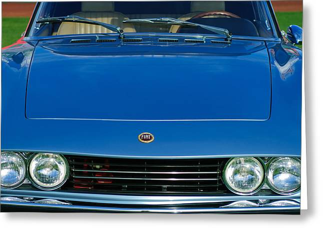 Dino Greeting Cards - 1971 Fiat Dino 2.4 Grille Greeting Card by Jill Reger
