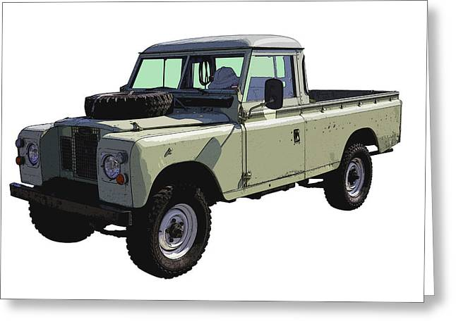 Off Road Greeting Cards - 1971 Land Rover Pickup Truck Greeting Card by Keith Webber Jr