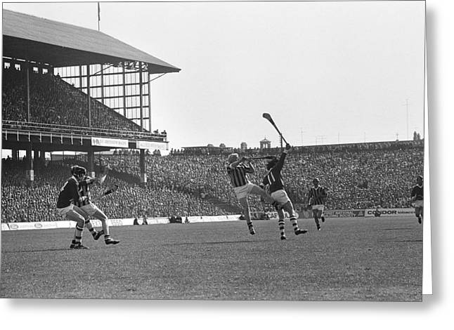 Hurl Greeting Cards - 1972 All Ireland Hurling Final Greeting Card by Irish Photo Archive