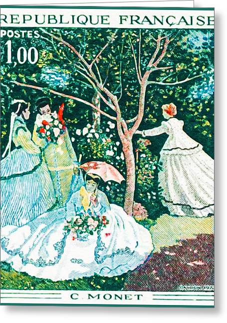 Eure Greeting Cards - 1972 C. Monet Greeting Card by Lanjee Chee