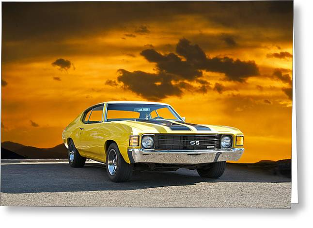 American Automobiles Greeting Cards - 1972 Chevelle SS Greeting Card by Dave Koontz