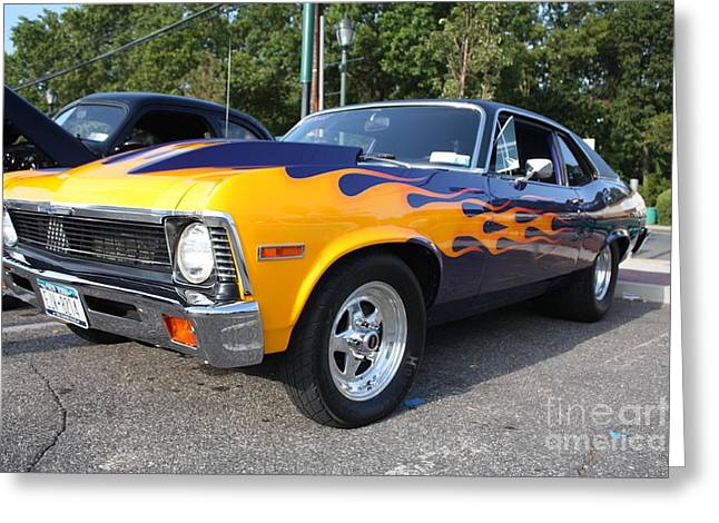 Design With Photography Greeting Cards - 1972 Chevy Nova Greeting Card by John Telfer