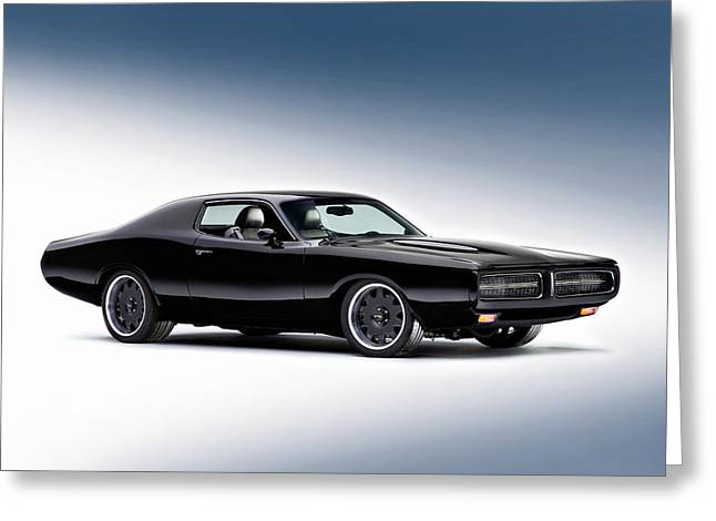 Old American Greeting Cards - 1972 Dodge Charger Greeting Card by Gianfranco Weiss