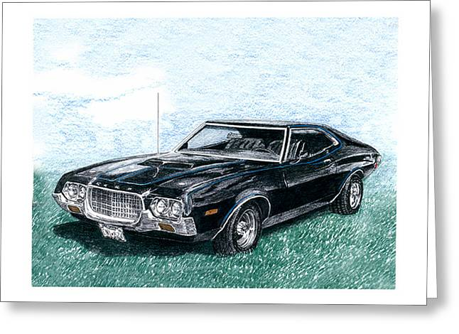 Bitchin Greeting Cards - 1972 Ford Gran Torino Sport 1972 Greeting Card by Jack Pumphrey