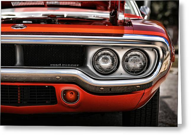 1972 Plymouth Road Runner Greeting Card by Gordon Dean II
