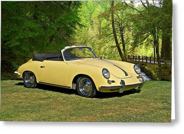 Rally Greeting Cards - 1972 Porsche 356 Cabriolet Greeting Card by Dave Koontz