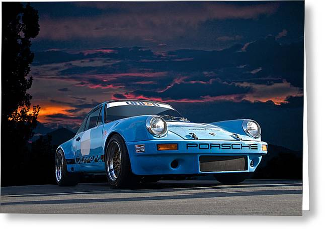 Transmission Greeting Cards - 1972 Porsche Carrera Greeting Card by Dave Koontz