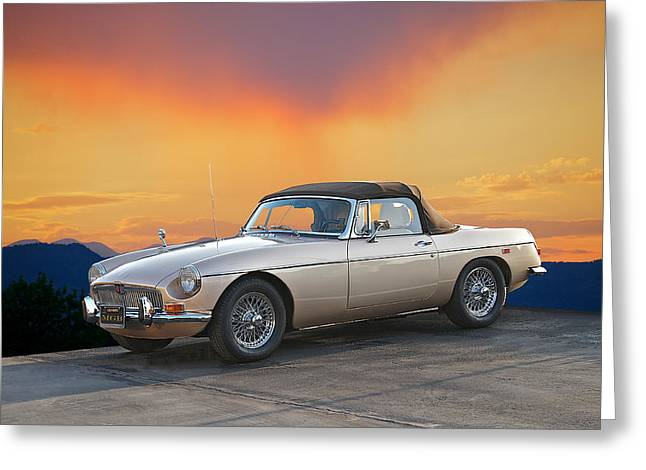 High-performance Luxury Car Greeting Cards - 1973 MGB Roadster Greeting Card by Dave Koontz