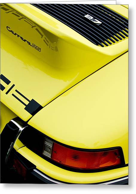 Famous Photographers Greeting Cards - 1973 Porsche 911 Carrera RS Taillight Greeting Card by Jill Reger