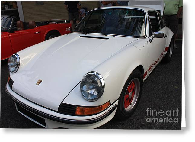 Canon Rebel Greeting Cards - 1973 Porsche Greeting Card by John Telfer