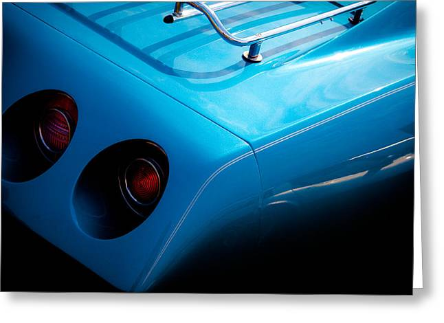 Radiator Badge Greeting Cards - 1974 Chevy Corvette Big Block Greeting Card by David Patterson