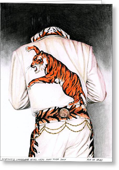 1974 Mad Tiger Suit Greeting Card by Rob De Vries