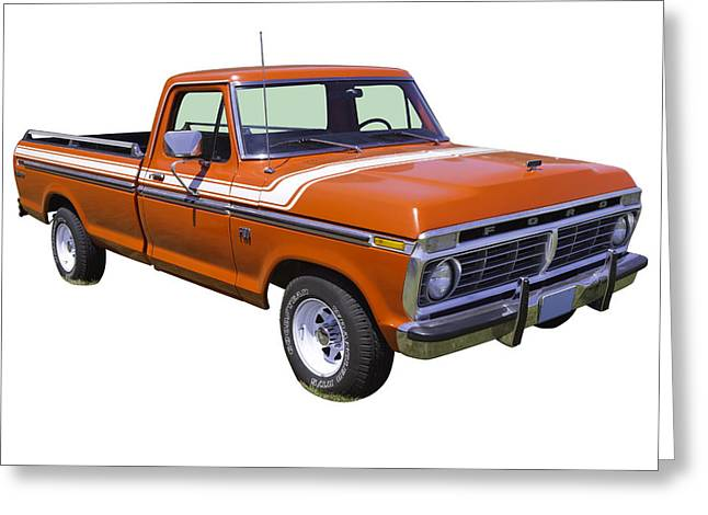 Classic Truck Greeting Cards - 1975 Ford F100 Explorer Pickup Truck Greeting Card by Keith Webber Jr