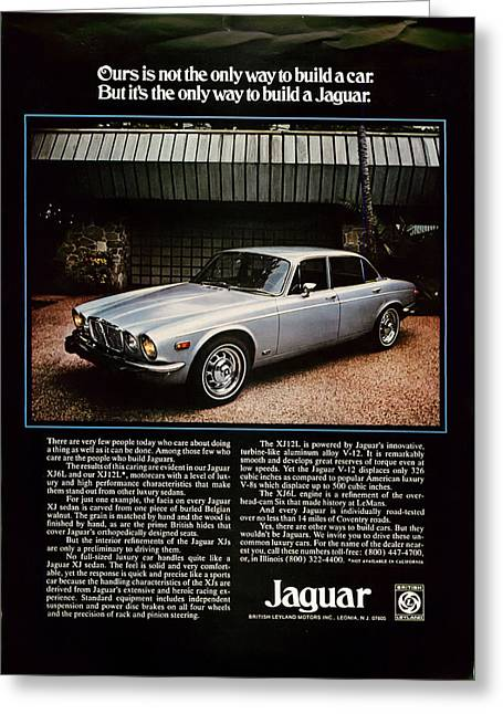 Rally Greeting Cards - 1975 Jaguar XK12L Greeting Card by Nomad Art And  Design