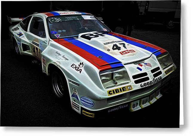 Motography Photographs Greeting Cards - 1976 Chevrolet Monza IMSA Greeting Card by Phil