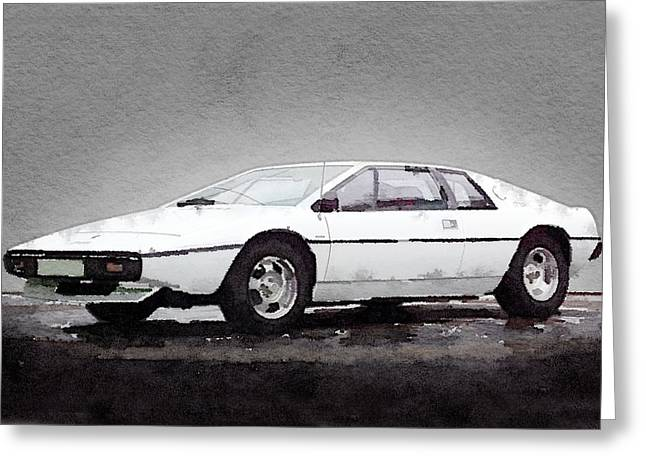 Classic Lotus Greeting Cards - 1976 Lotus Esprit Coupe Greeting Card by Naxart Studio