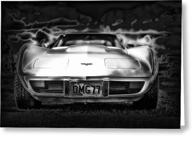 Oldies Greeting Cards - 1977 Corvette Greeting Card by Mountain Dreams