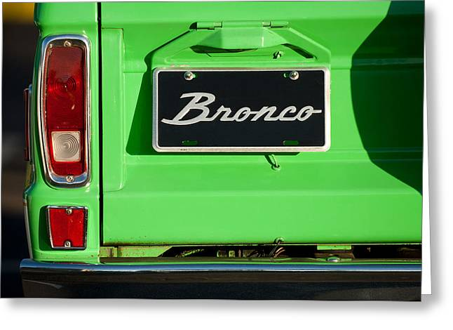 Broncos Greeting Cards - 1977 Ford Bronco Taillight Greeting Card by Jill Reger