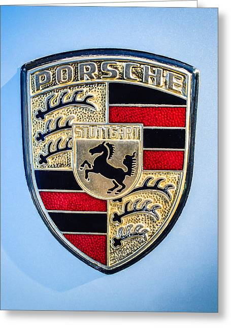 1977 Greeting Cards - 1977 Porsche 911s Coupe Emblem - 0156c45 Greeting Card by Jill Reger