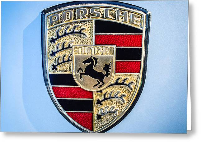 1977 Greeting Cards - 1977 Porsche 911s Coupe Emblem - 0156c551 Greeting Card by Jill Reger