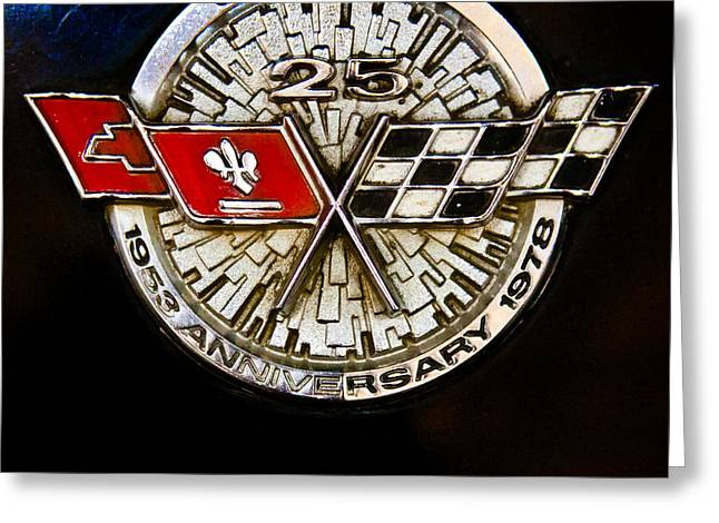 Collector Hood Ornament Greeting Cards - 1978 Chevrolet Corvette Pace Car Greeting Card by David Patterson