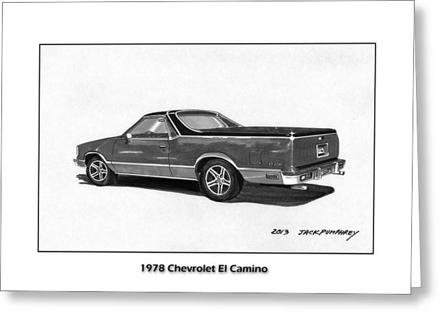 Continuing Greeting Cards - 1978 Chevrolet El Camino Greeting Card by Jack Pumphrey